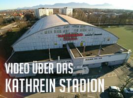 Neues Spektrum Luftaufnahmen: Erstes Video – Drohnenflug beim Kathreinstadion Rosenheim