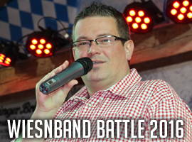 "Moderation beim ""Wiesnband Battle 2016"""